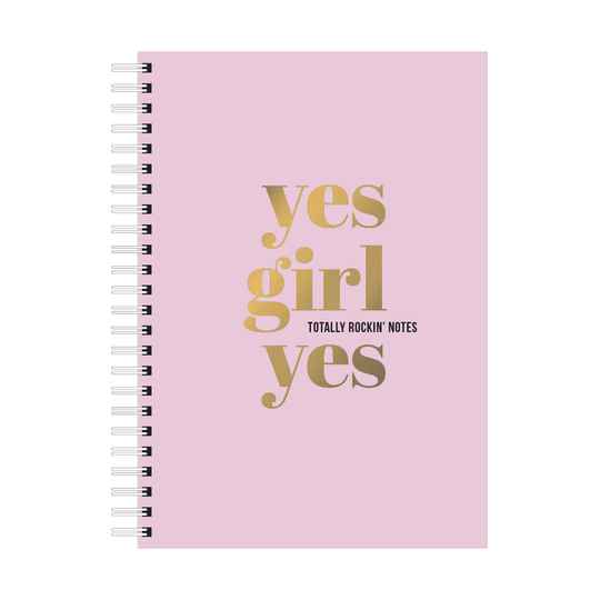 NOTEBOOK PINK 'YES GIRL YES'