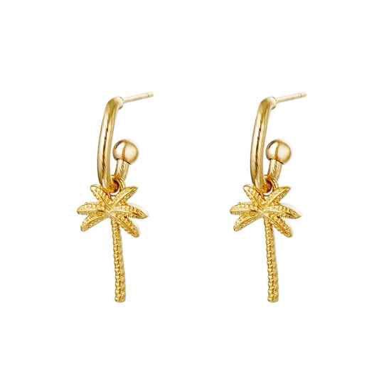 PALM EARRINGS GOLD
