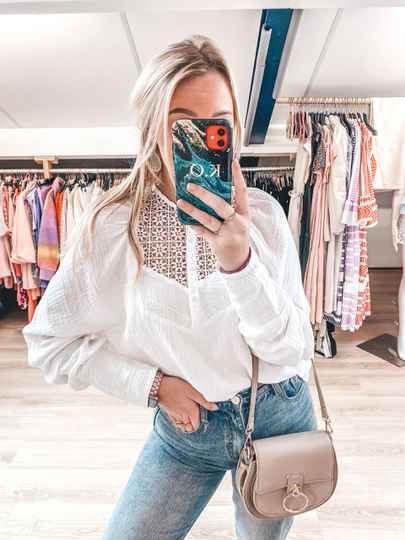 LIV BLOUSE WHITE