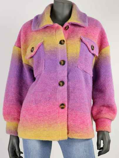 EVRI PURPLE RAINBOW COAT