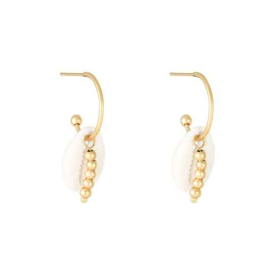 SHELL EARRINGS GOLD