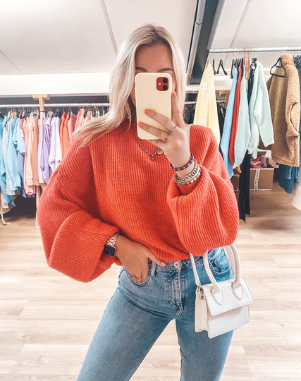 KATY SWEATER RED