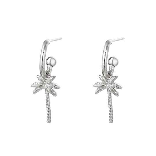 PALM EARRINGS SILVER