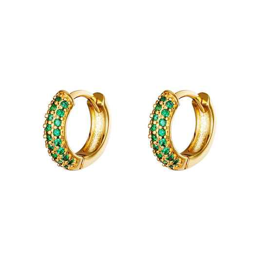 LIV EARRINGS GREEN