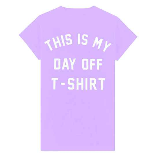 DAY OFF T-SHIRT LILA