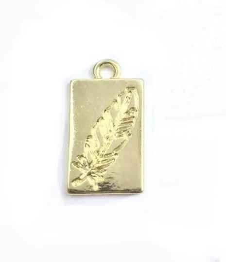 Bedel / Tag feather goud