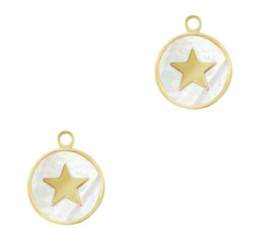 Stainless steel bedel shell star Gold