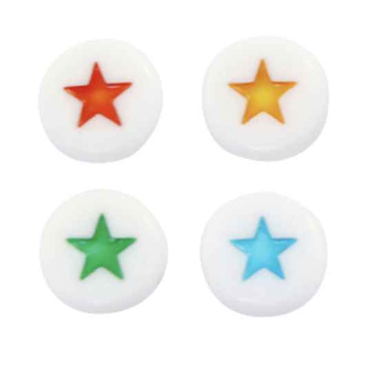 Acryl letterkralen star mix multicolor