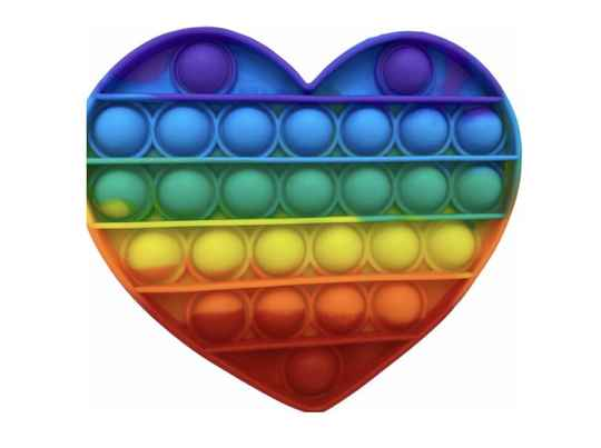 Pop it rainbow heart