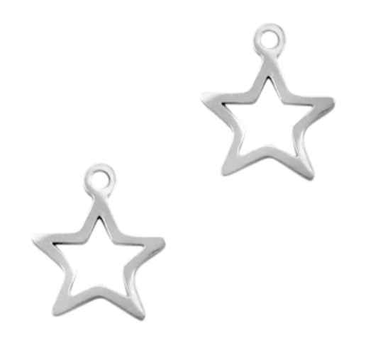 Stainless steel bedel star silver