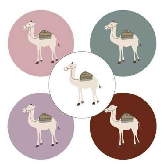 Stickers Camels are awesome 5 assorti