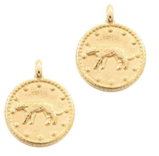 DQ bedel leopard gold plated 12mm