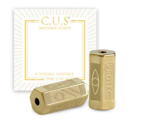 C.U.S. Message Beads Protect Gold