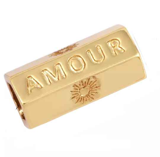 Message Beads Amour gold plated