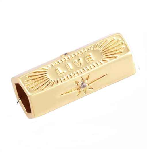Message Beads Live Gold