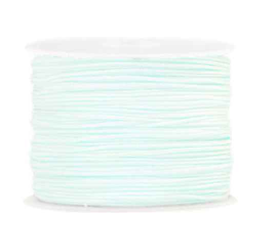 Macramé draad 1mm Frosted blue