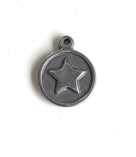 Stainless steel bedel coin star 15mm