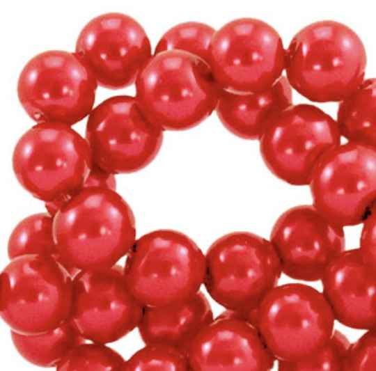 Top quality glasparels 6mm cherry red
