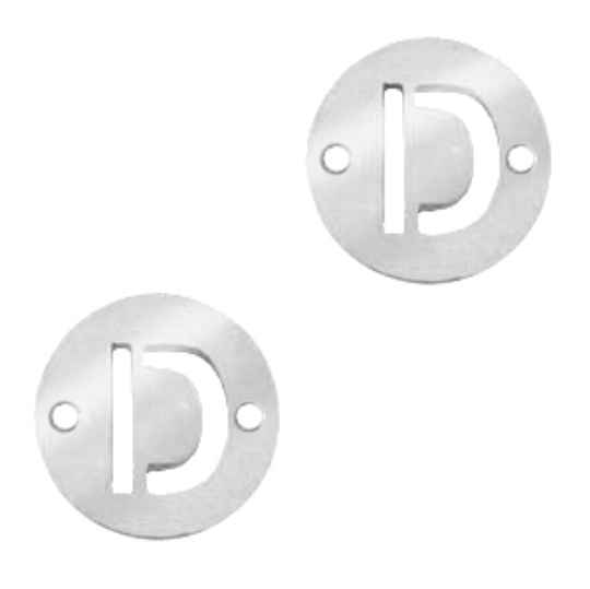 Stainless steel initial coin 10mm D zilver