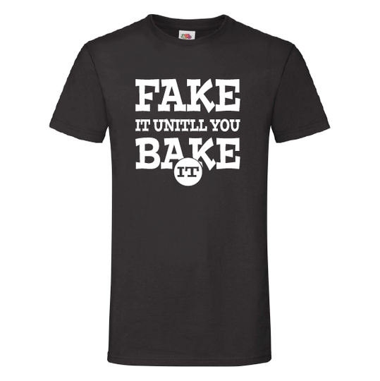 Food t-shirts | Fake it untill you make it