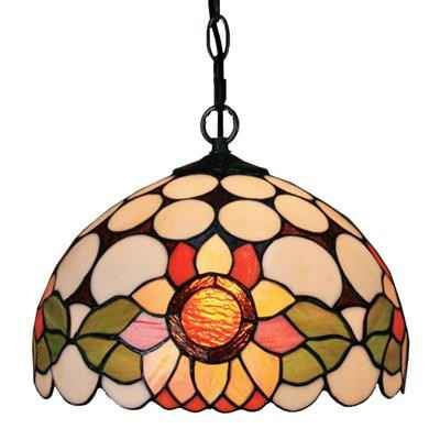 PL120008-12 Sunny flower Tiffany Style Pendant Lamp stained glass 30 x 25 cm