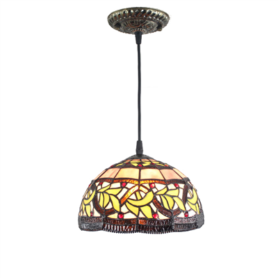 PL120010-12  Tiffany Style Pendant Lamp stained glass 30 x 25 cm