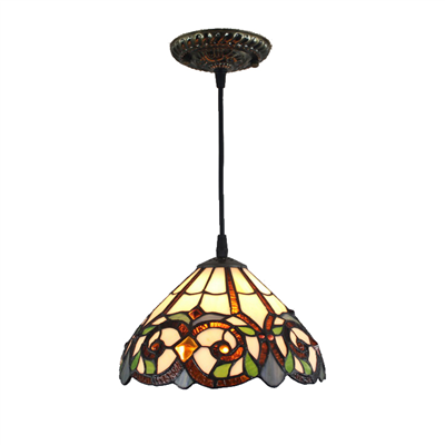PL120009-12 Tiffany Style Pendant Lamp stained glass 30 x 25 cm