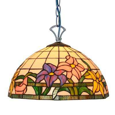 PL120003-12 flower glass stained modern tiffany pendant lamp 30 x 25 cm