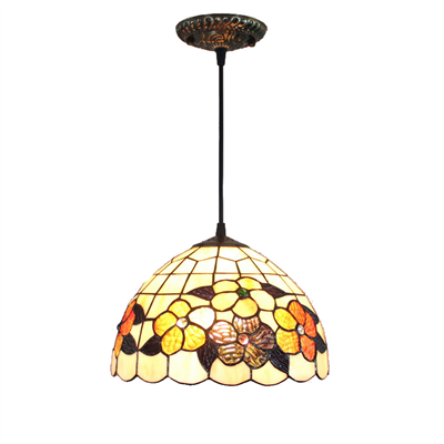 PL120011-12 Tiffany Style Pendant Lamp stained glass 30 x 25 cm