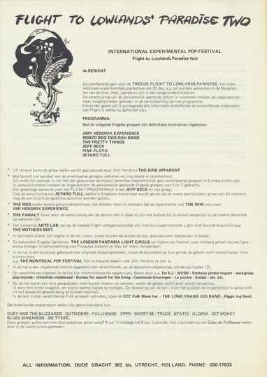 Pink Floyd et al. - Flight To Lowlands Paradiso Two [Holland] - Press Kit