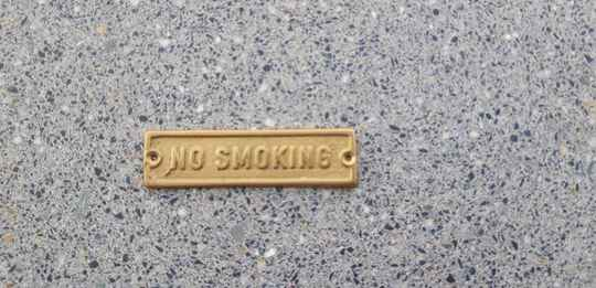 SCHILDJE KOPER NO SMOKING