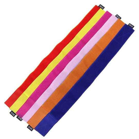 ARMSTRAP WITH VELCRO Paars/Roze Blauw/Oranje Rood/Geel