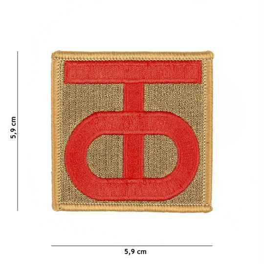 EMBLEEM STOF 90TH US INFANTRY DIVISION WWII
