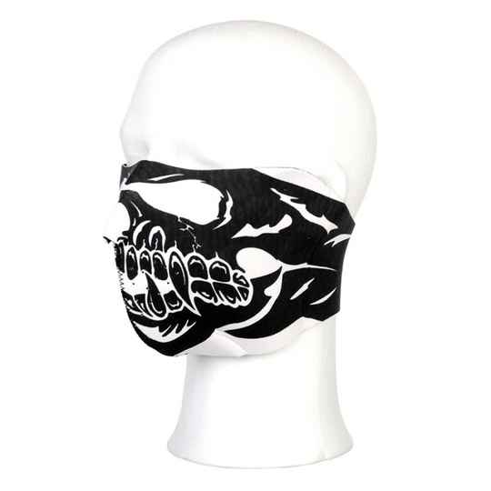 BIKER MASK HALF FACE SKULL BIG MOUTH