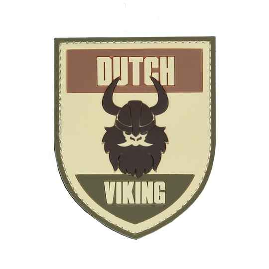 EMBLEEM 3D PVC DUTCH VIKING MULTI