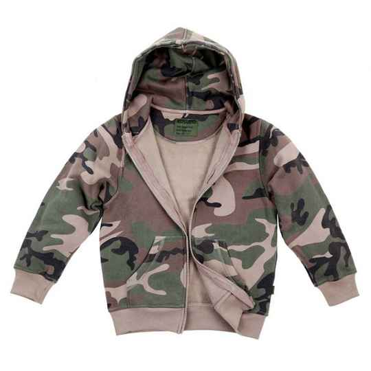 KINDER HOODED VEST WOODLAND