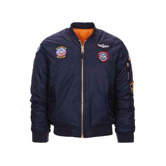 KINDER MA-1 FLIGHT JACKET Zwart