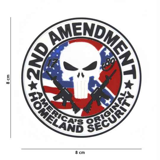 EMBLEEM 3D PVC 2ND AMENDMENT PUNISHER
