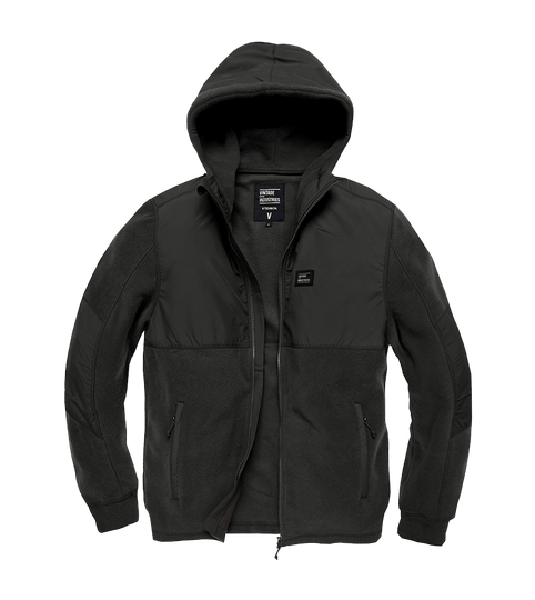 LANDELL POLAR FLEECE JACKET ZWART