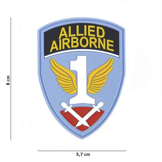 EMBLEEM 3D PVC FIRST ALLIED AIRBORNE ARMY