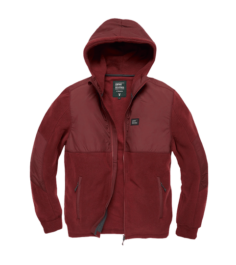 LANDELL POLAR FLEECE JACKET BORDEAUX ROOD