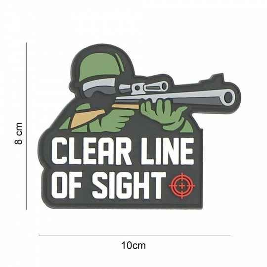 EMBLEEM 3D PVC CLEAR LINE OF SIGHT