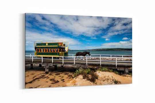 Famous Horse Drawn Tram in Victor Harbor