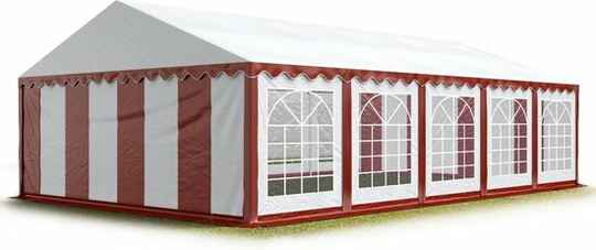 Partytent 5x10 mtr rood wit