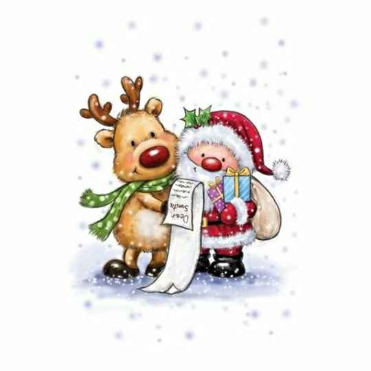 Wild Rose Studio - Clear Stamp - Santa and Rudolph
