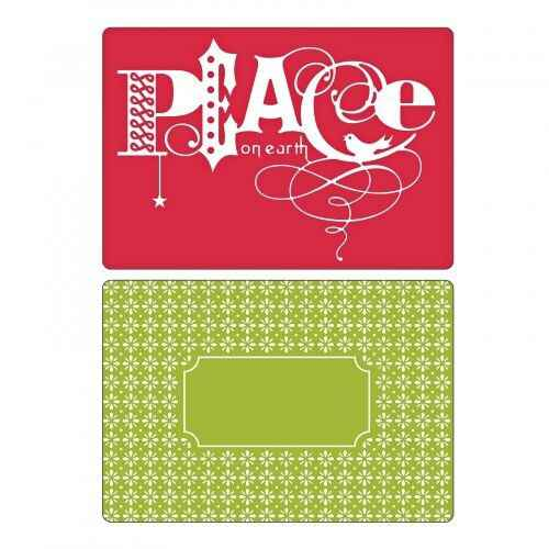 Sizzix - Embossing Folders - Peace Set