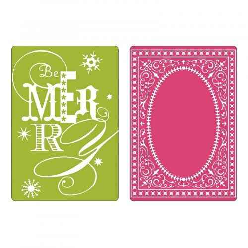 Sizzix - Embossing Folders - Be Merry Set