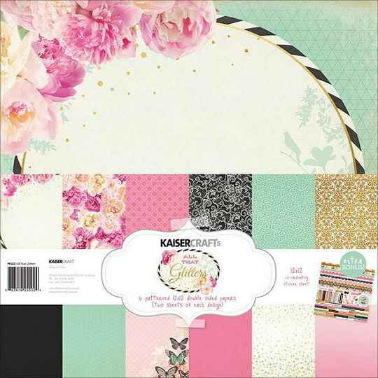 """Kaisercraft - All That Glitters Collection - 12"""" x 12"""" - Paper Pack"""