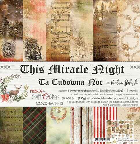 """Craft O'Clock - Paper Collection Set - 12"""" - This Miracle Night"""