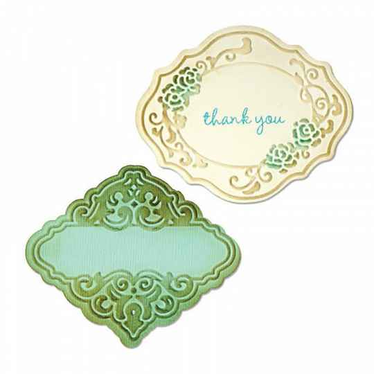 Sizzix - Bigz Die and Emb Fold - Antique Faire Coll - Labels